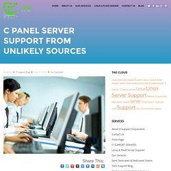 Cpanel Server Support from Unlikely Sources