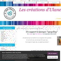 """Un support à éponges """"upcycling"""" - Les créations d'Ulane"""