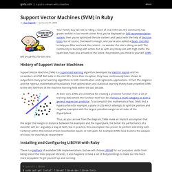 Support Vector Machines (SVM) in Ruby