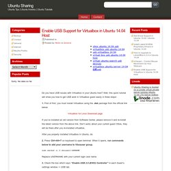 Enable USB Support for Virtualbox in Ubuntu 14.04 Host
