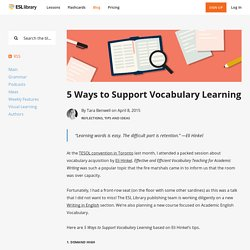 5 Ways to Support Vocabulary Learning