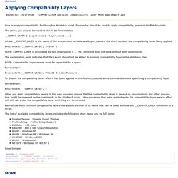 WWW Tech Support/WinBatch/How To\Control Compatibility Mode.txt