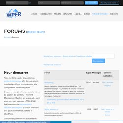WordPress Forum Francophone