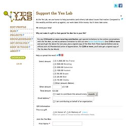 Support the Yes Lab