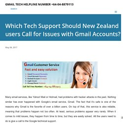 Which Tech Support Should New Zealand users Call for Issues with Gmail Accounts?