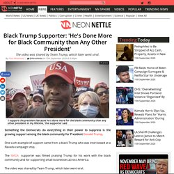 Black Trump Supporter: 'He's Done More for Black Community than Any Other President'