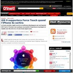 iOS 9 supportera Force Touch quand l'iPhone 6s sortira