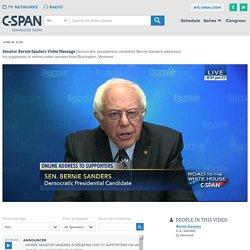 Bernie Sanders Addresses Supporters Burlington