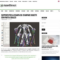 Supporti per la stampa 3D: stampare oggetti con parti a sbalzo
