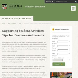 Supporting Student Activism - School of Education - Loyola Maryland