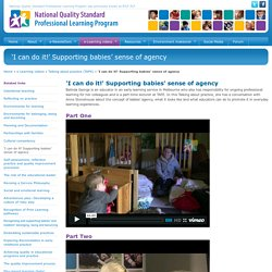 'I can do it!' Supporting babies' sense of agency - NQS PLP