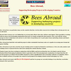 Bees Abroad, Supporting Beekeeping Projects in Developing Countries