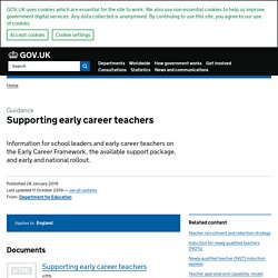 Supporting early career teachers