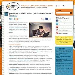 Supporting a Gifted Child: A Quick Guide to Online Resources > Virtual Learning Connections