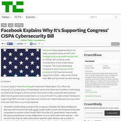 Facebook Explains Why It's Supporting Congress' CISPA Cybersecurity Bill