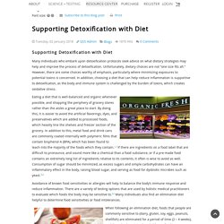 Supporting Detoxification with Diet - Blog