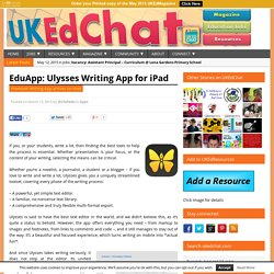 EduApp: Ulysses Writing App for iPad