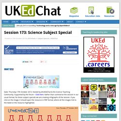Session 173: Science Subject Special
