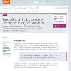 JISC - Supporting an inclusive learner experience in higher education