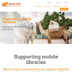 Supporting mobile libraries - Book Aid International