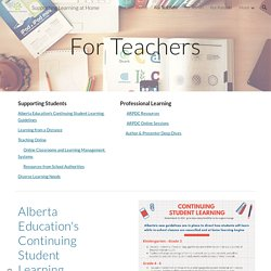 Supporting Learning at Home - For Teachers
