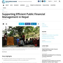 Supporting Efficient Public Financial Management in Nepal