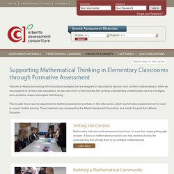 Supporting Mathematical Thinking in Elementary Classrooms through Formative Assessment