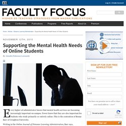 Supporting the Mental Health Needs of Online Students
