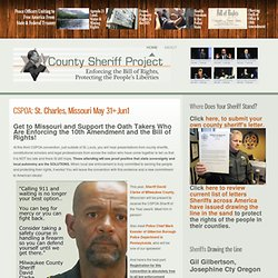 Peace Officers Uniting to End State & Federal Tyranny - January 2012 | Las Vega, Nevada - County Sheriff Project