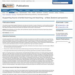 Supporting future-oriented learning and teaching - a New Zealand perspective