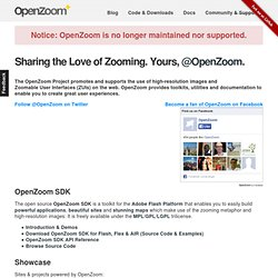 OpenZoom: Promoting and Supporting High-Resolution Images & Zoomable User Interfaces (ZUIs) on the Web