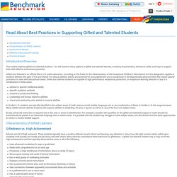 Read About Best Practices in Supporting Gifted and Talented Students - Benchmark Education Storefront