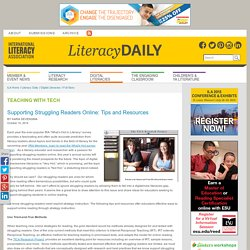 Supporting Struggling Readers Online: Tips and Resources
