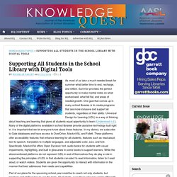Supporting All Students in the School Library with Digital Tools