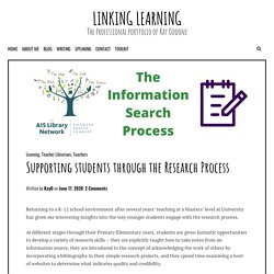 Supporting students through the Research Process – Linking Learning