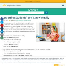 Supporting Students' Self-Care Virtually