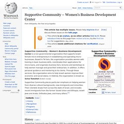 Supportive Community – Women's Business Development Center