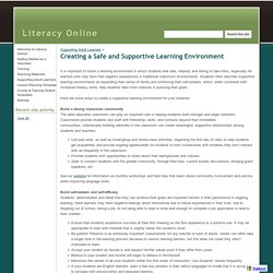 Creating a Safe and Supportive Learning Environment - Literacy Online