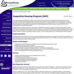 Supportive Housing Program (SHP)