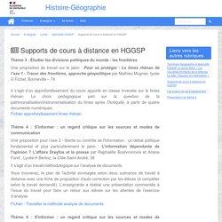 HGGSP : Supports de cours à distance en HGGSP