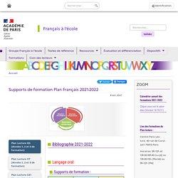 Supports de formation Plan Français 2020-2021