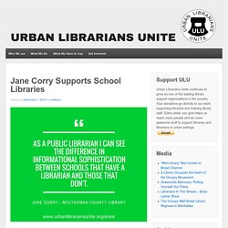 Jane Corry Supports School Libraries