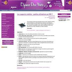 Les supports mobiles : quelles utilisations au CDI ? - Espace Doc Web