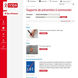 Supports de prévention à commander