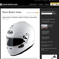 Arai helmet supports Henry Surtees Challenge