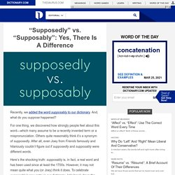 Is Supposably A Real Word? Supposedly vs. Supposably