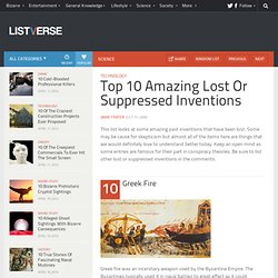 Top 10 Amazing Lost Or Suppressed Inventions | Listverse