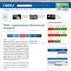 FNAC : suppression de 180 postes de disquaires