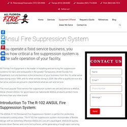 Ansul Fire Suppression System- All Florida Fire Equipment