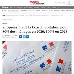 Suppression de la taxe d'habitation pour 80% des ménages en 2020, 100% en 2023